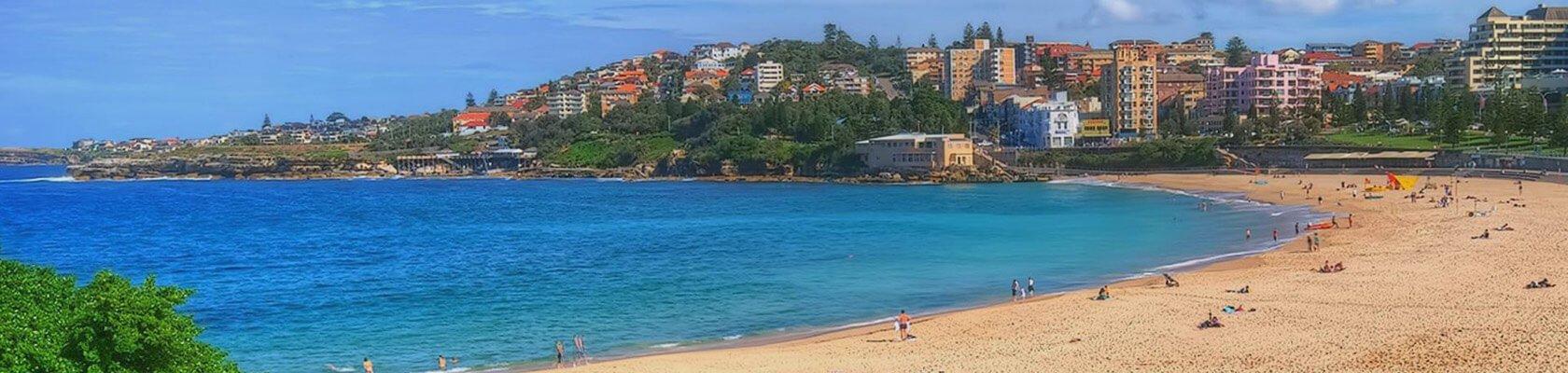 Sydney sand beach